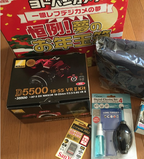一眼レフデジカメの夢 6万円  D5500