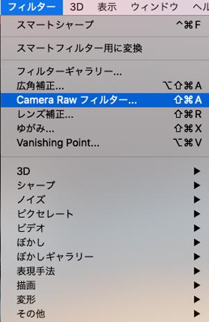 camera-rawフィルター