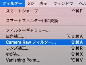 CameraRawフィルター