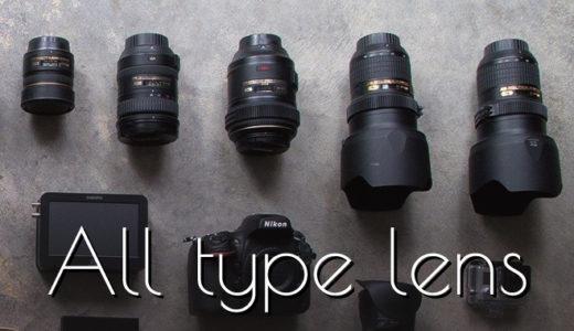 レンズの全種類